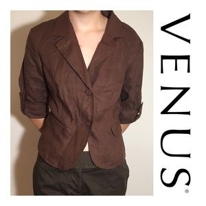 Venus Brown Blazer Jacket